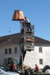 Lampeninstallation auf Freakstock 2012