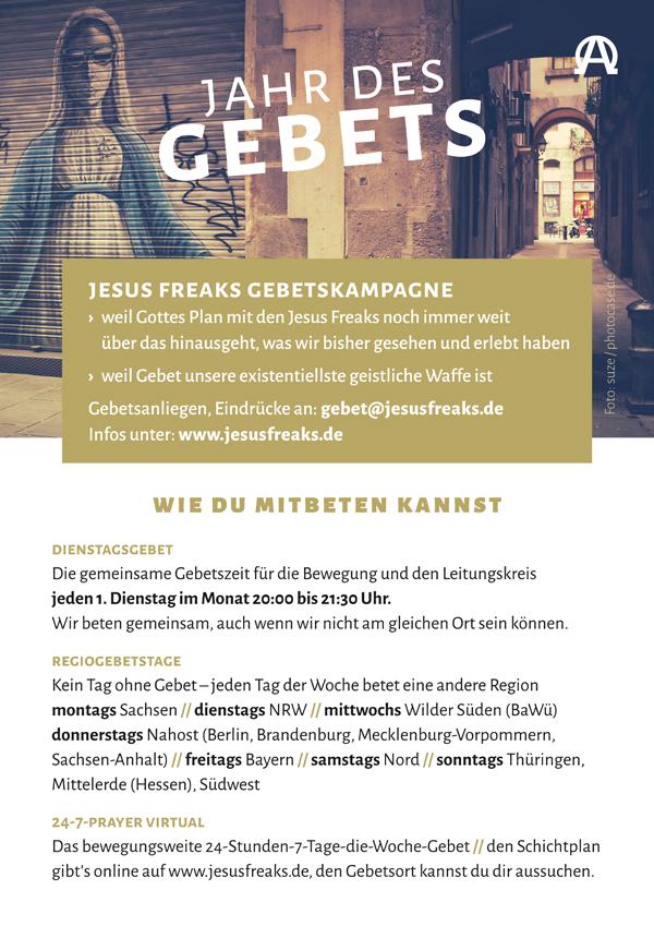 Gebetskampagne, Plakat