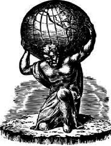 Atlas trägt die Welt