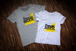 Freakstock-T-Shirts in grau und weiß